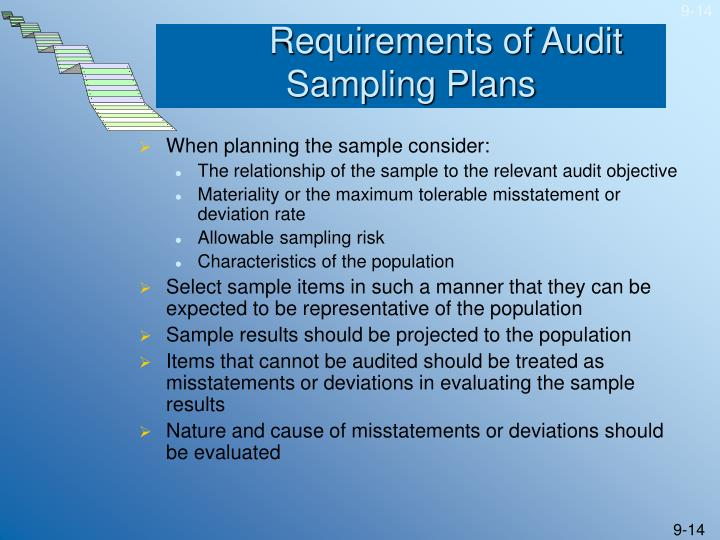 Requirements of Audit