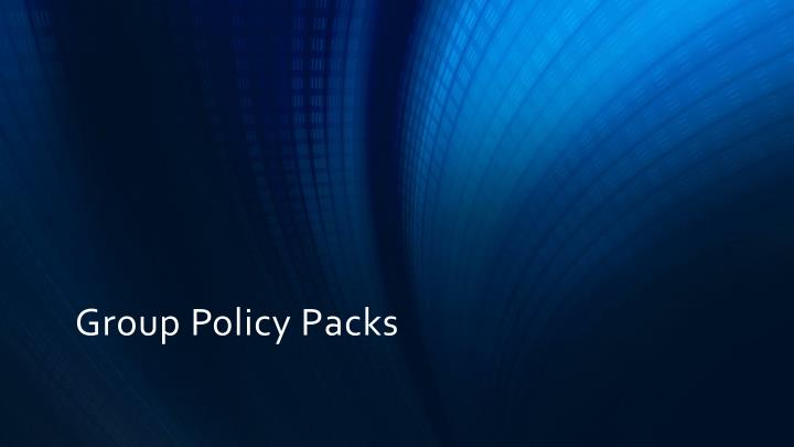 Group Policy Packs