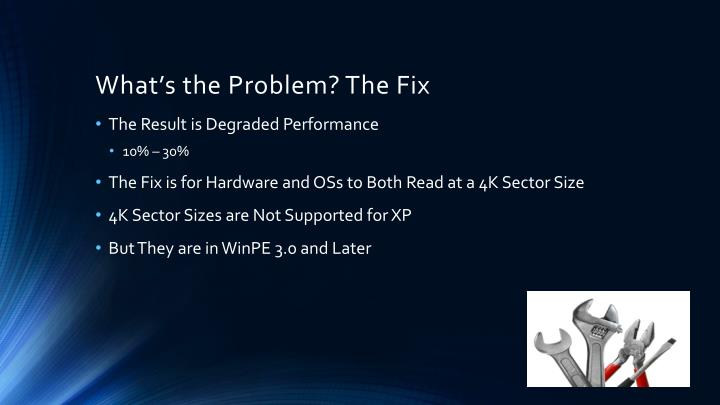 What's the Problem? The Fix