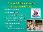 microbial indicators for recreational water