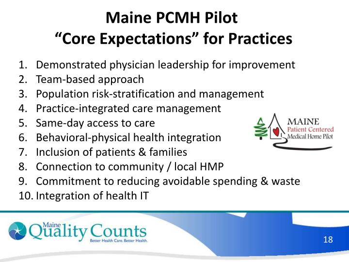 Maine PCMH Pilot