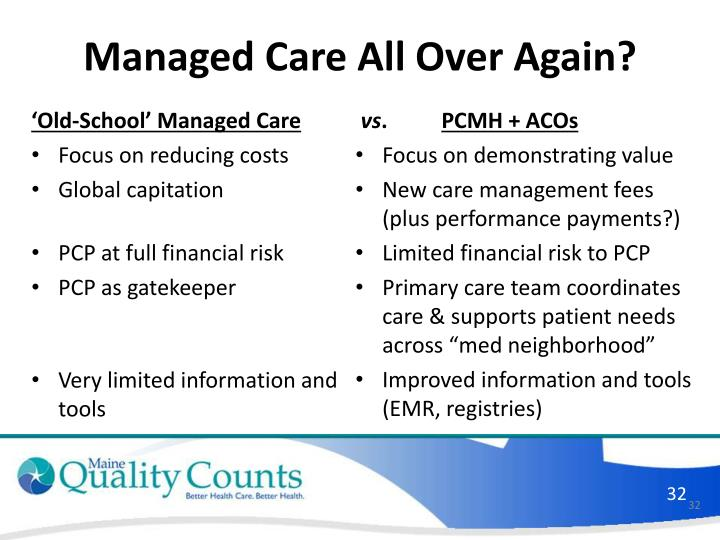 'Old-School' Managed Care