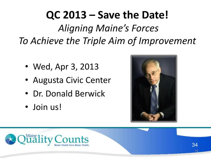 QC 2013 – Save the Date!