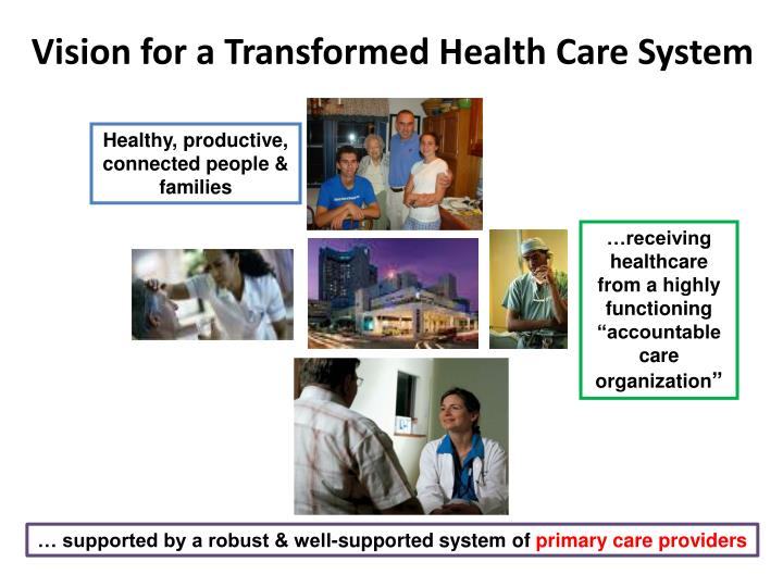 Vision for a Transformed Health Care System