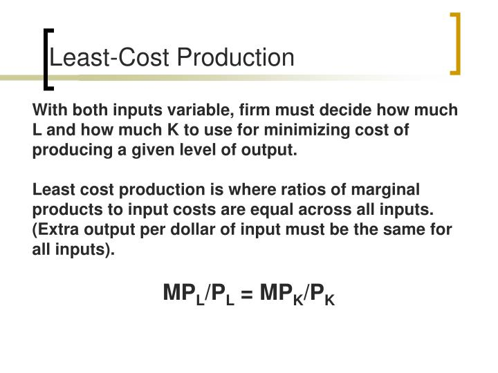 Least-Cost Production