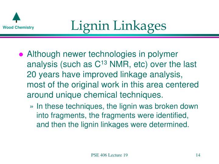 Lignin Linkages