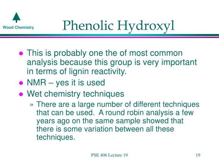 Phenolic Hydroxyl