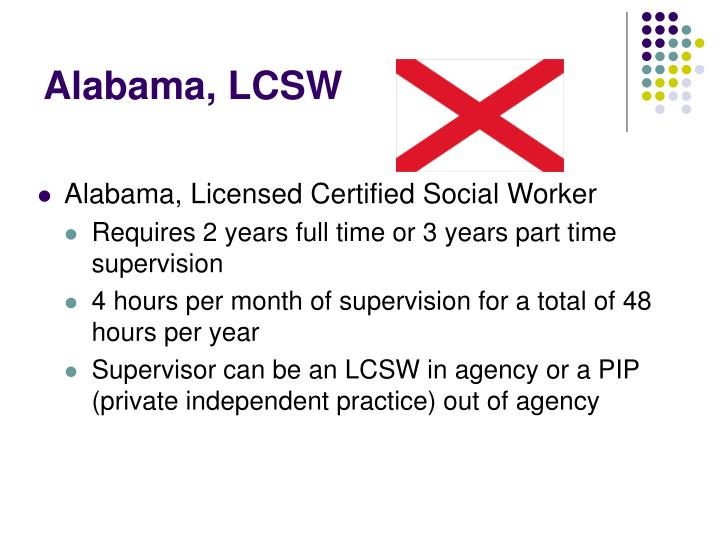 Alabama, LCSW