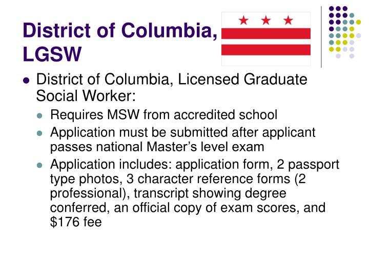 District of Columbia, LGSW