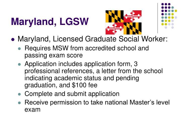 Maryland, LGSW