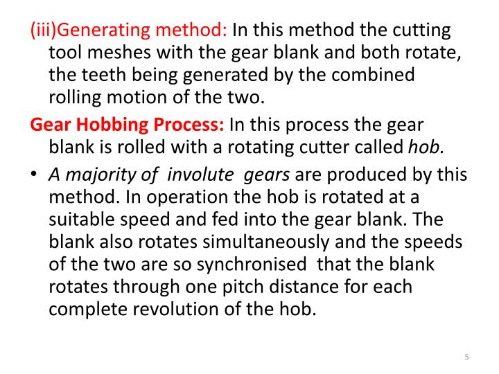 (iii)Generating method: