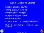 built in electronic shutter