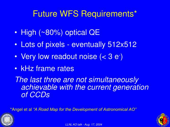 Future WFS Requirements*