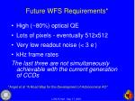 future wfs requirements