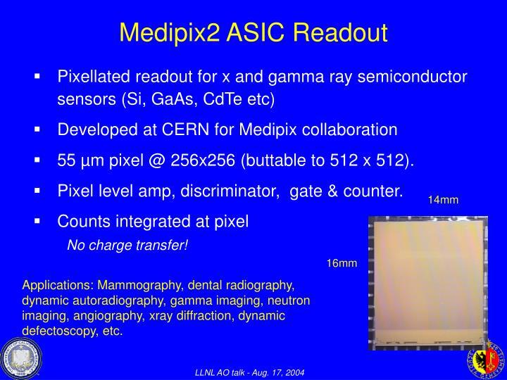 Medipix2 ASIC Readout