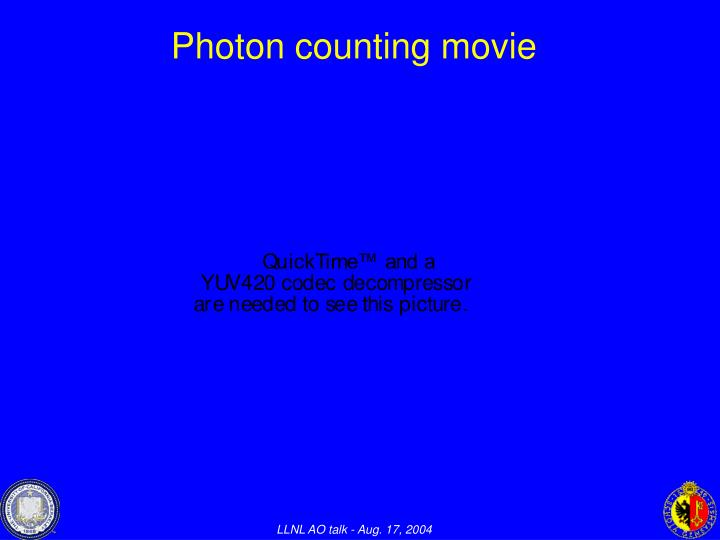 Photon counting movie