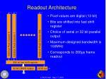 readout architecture