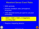 wavefront sensor event rates