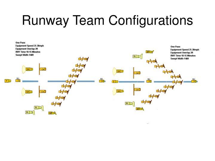 Runway Team Configurations