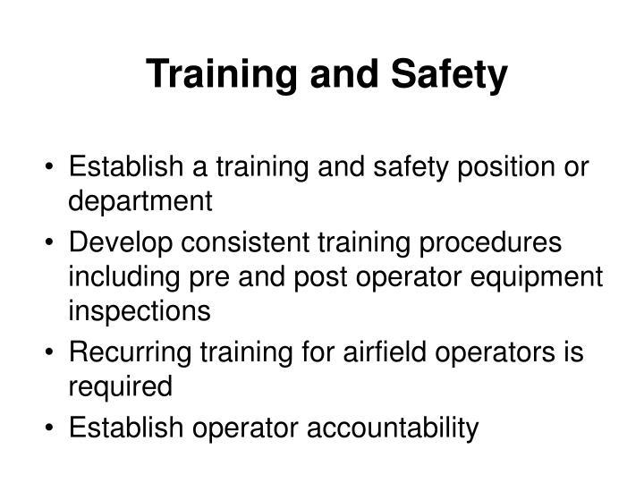 Training and Safety