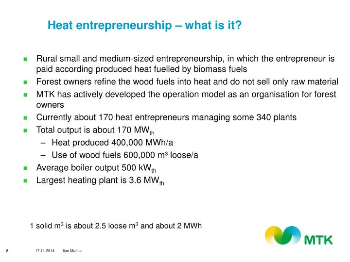 Heat entrepreneurship – what is it