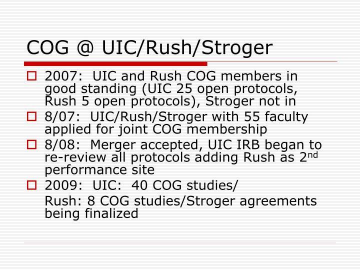 COG @ UIC/Rush/Stroger