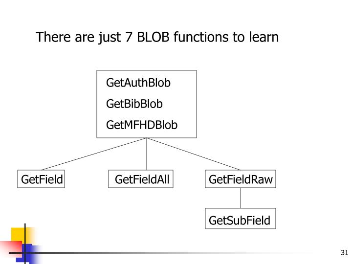 There are just 7 BLOB functions to learn