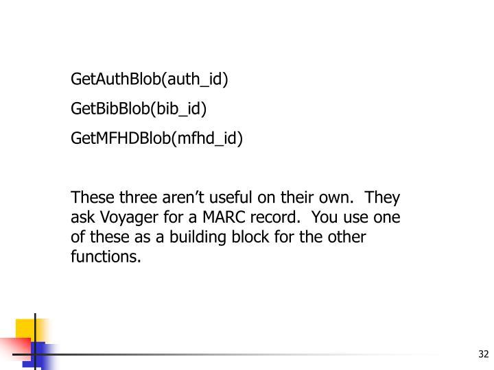 GetAuthBlob(auth_id)