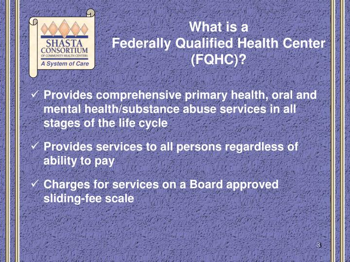 What is a federally qualified health center fqhc1