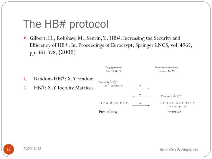 The HB# protocol