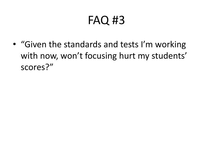 FAQ #3