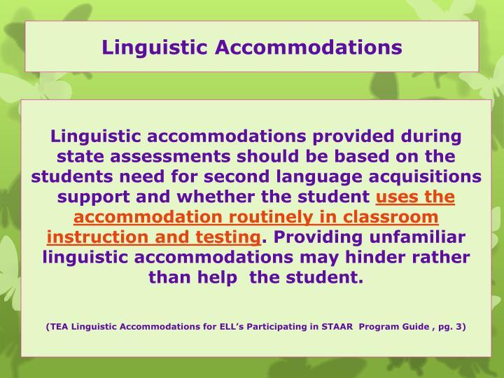 Linguistic Accommodations