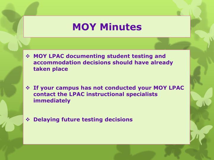 MOY Minutes