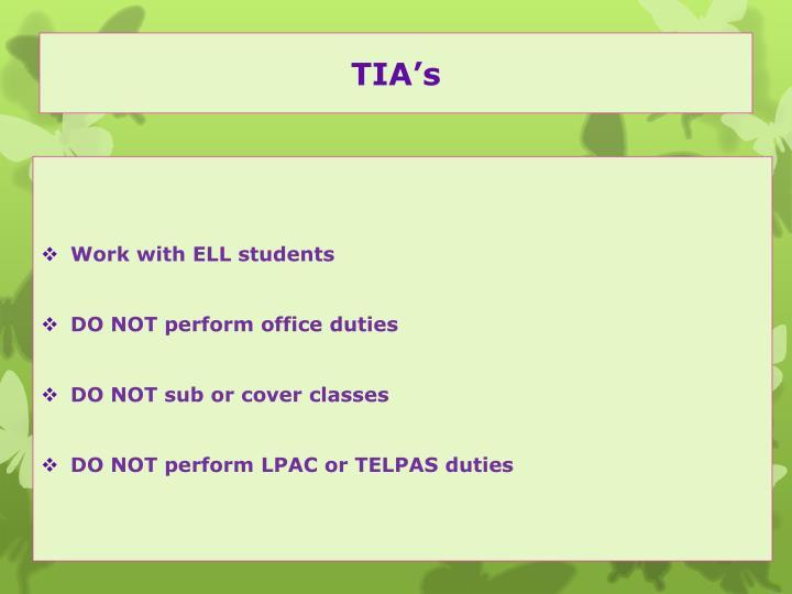 TIA's