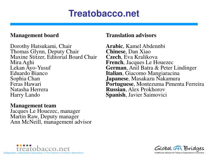Treatobacco.net