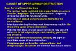 causes of upper airway obstruction