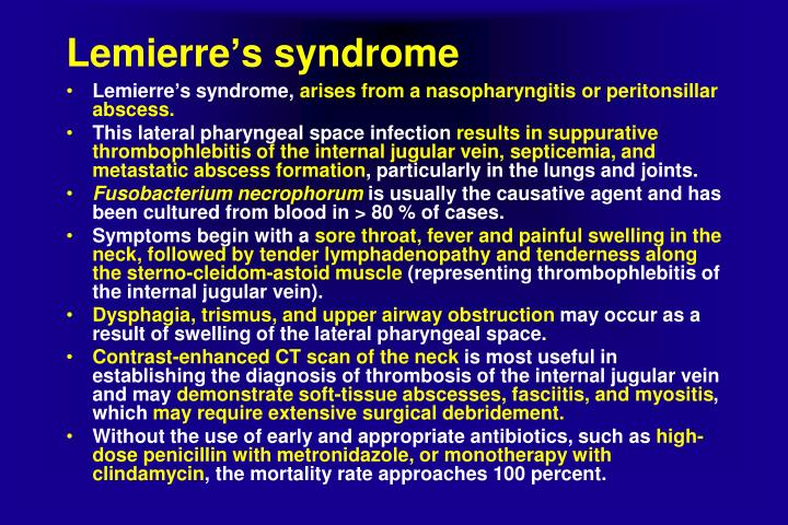 Lemierre's syndrome