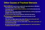 other causes of tracheal stenosis1