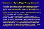 symptoms and signs of upper airway obstruction1