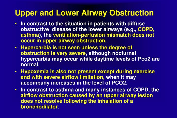 Upper and Lower Airway Obstruction