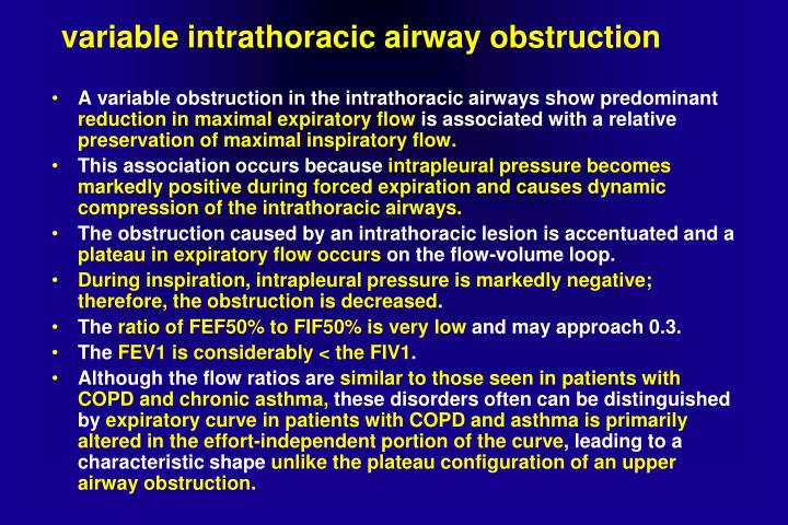 variable intrathoracic airway obstruction