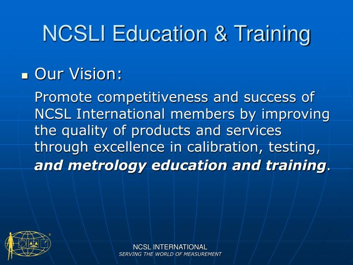 NCSLI Education & Training