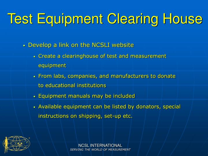 Test Equipment Clearing House