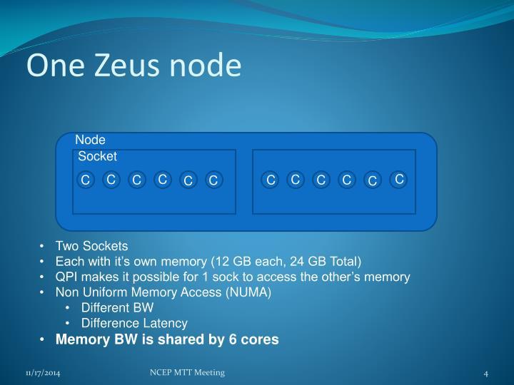 One Zeus node