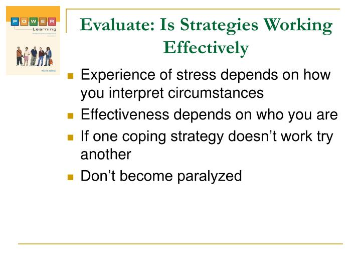 Evaluate: Is Strategies Working Effectively