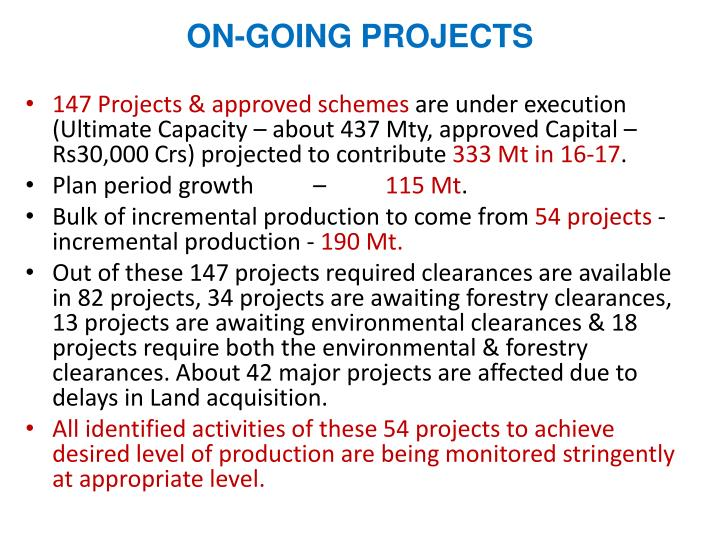 ON-GOING PROJECTS