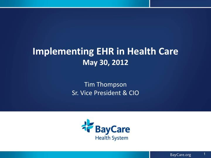 implementing and ehr A national study of challenges to electronic health record adoption and meaningful use dawn heisey-grove, mph, lisa-nicole danehy  (ehr implementation) if a.
