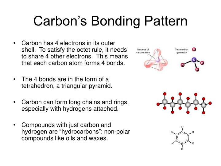Carbon s bonding pattern