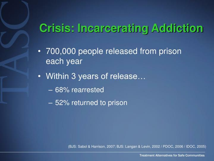 Crisis: Incarcerating Addiction