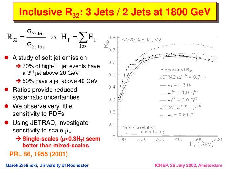 A study of soft jet emission